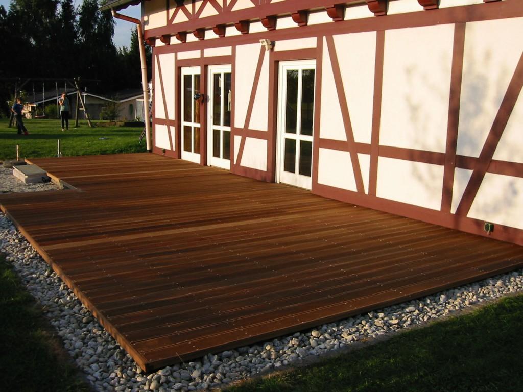 Terrasse Fachwerkhaus